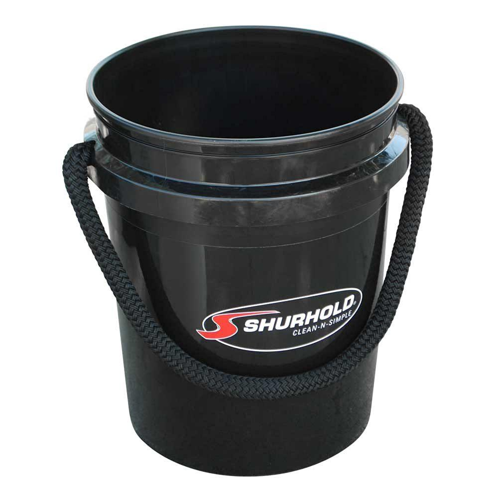 Shurhold 5 Gal Black Bucket With Rope Handle 2452 The