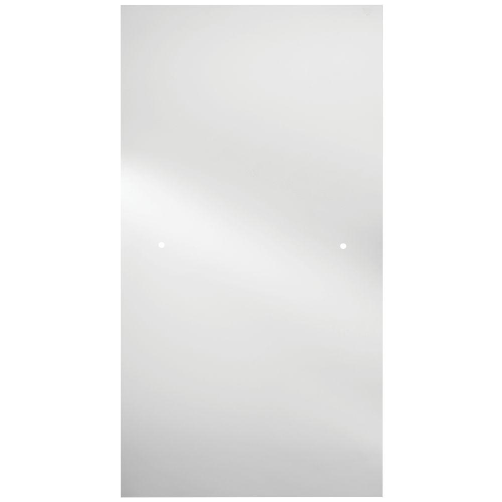36 in. Semi-Frameless Contemporary Pivot Shower Door Glass Panel in Clear