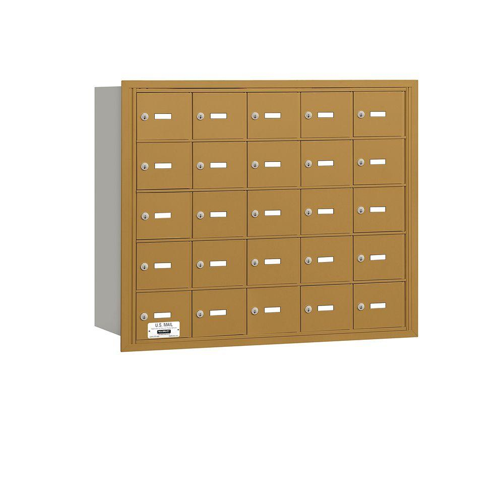 Salsbury Industries Gold USPS Access Rear Loading 4B Plus Horizontal Mailbox with 25A Doors