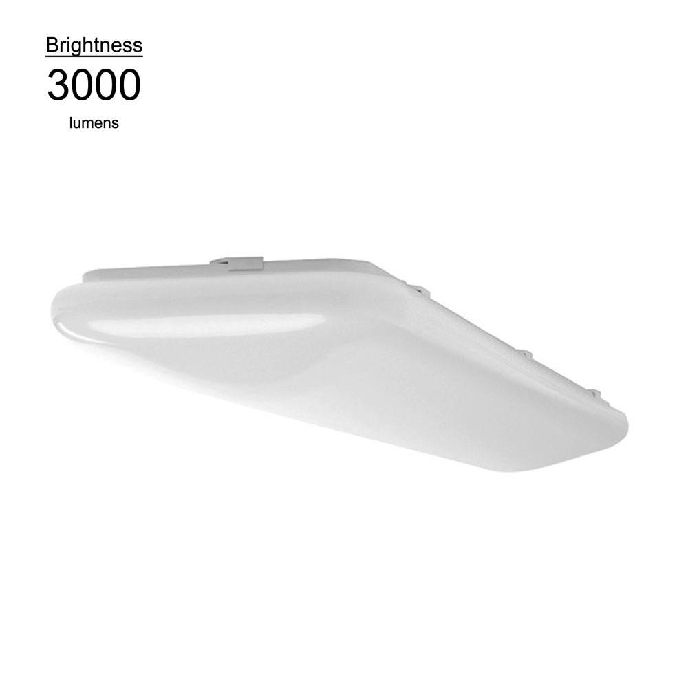 Hampton Bay 4 ft. x 1ft. Bright White Rectangular LED Flushmount Ceiling Light Fixture Dimmable