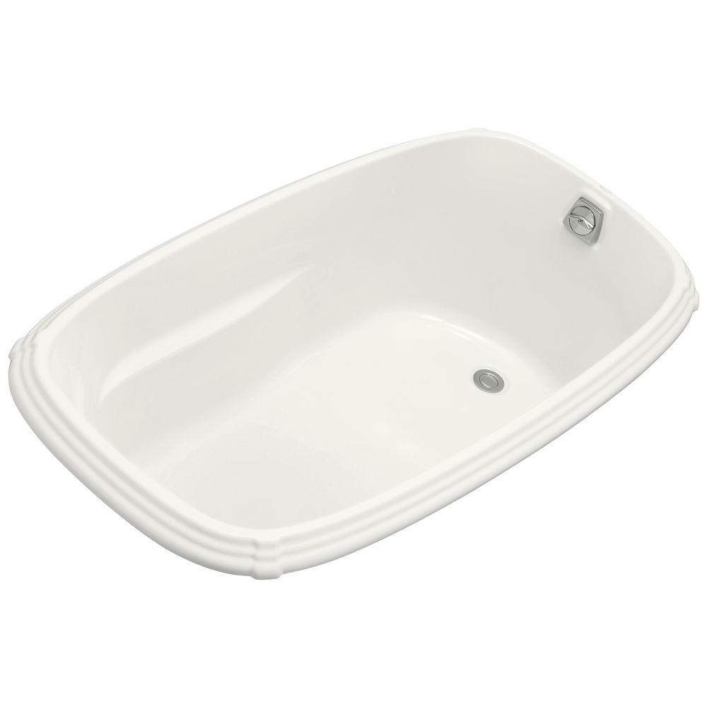 Kohler portrait 5 ft reversible drain acrylic soaking tub for Acrylic soaker tub