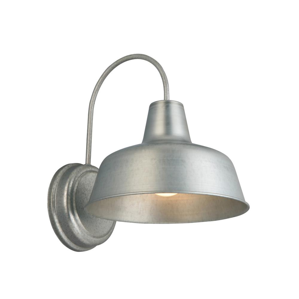 Design house mason 1 light galvanized outdoor wall sconce 579383 design house mason 1 light galvanized outdoor wall sconce workwithnaturefo