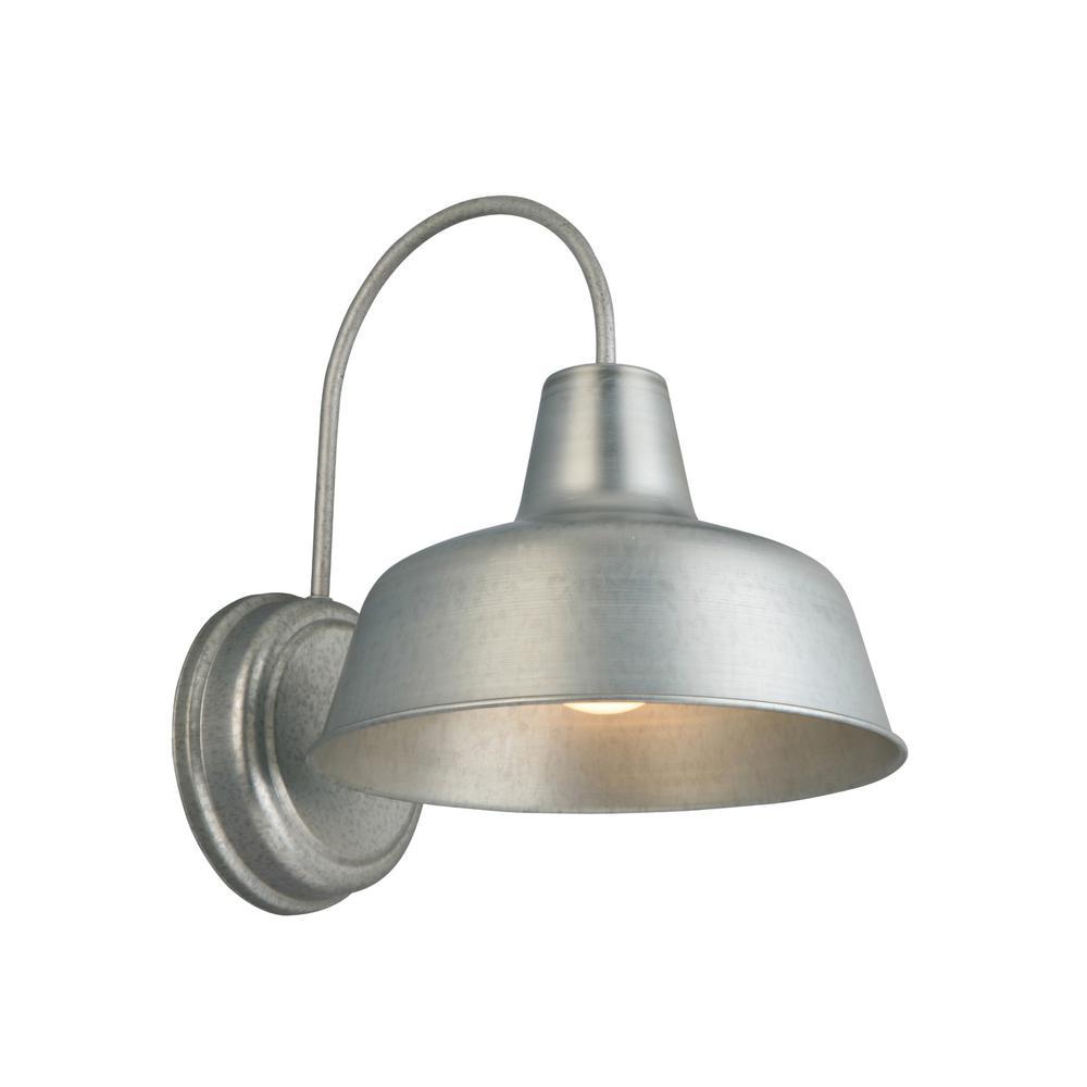 Mason 1-Light Galvanized Outdoor Wall Barn Light Sconce