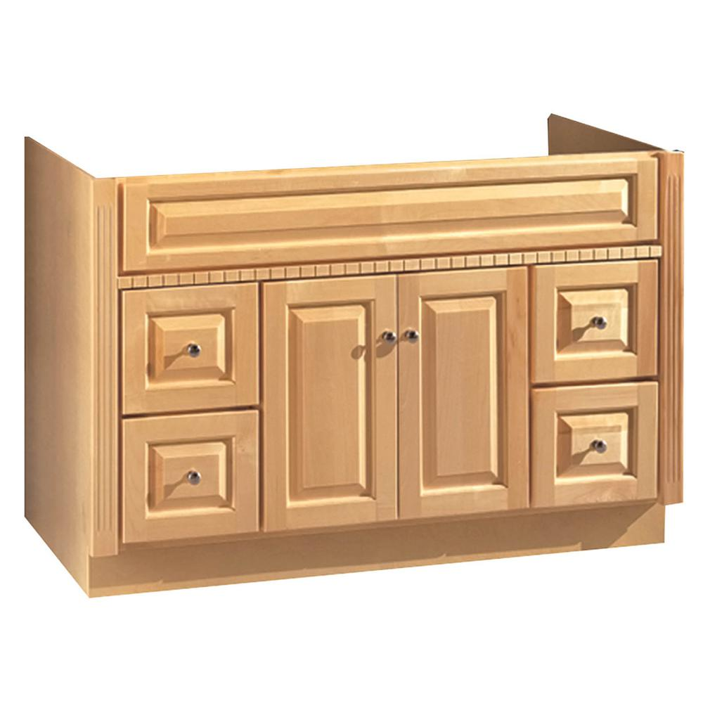 Hardware House 48 In W X 21 In D Vanity Cabinet Only In Maplewood Finish 16600397 The Home Depot