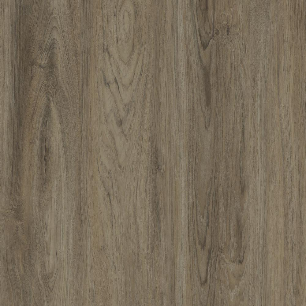 Trafficmaster Take Home Sample Brushed Oak Taupe Resilient Vinyl Plank Flooring 4 In X 4 In