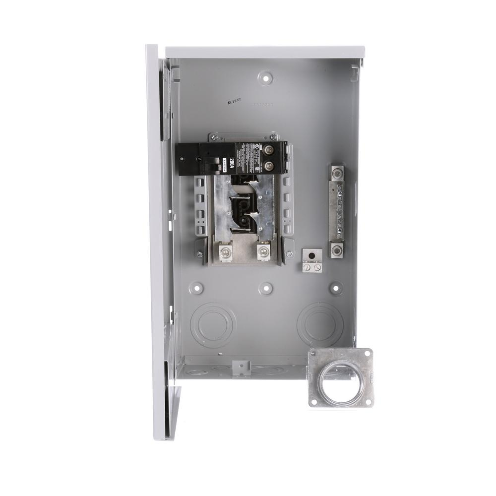 Murray 200 Amp 4-Space 8-Circuit Main Breaker Outdoor Trailer Panel-LW204TL  - The Home Depot | Murray 200 Amp Service Panel Wiring Diagram |  | The Home Depot