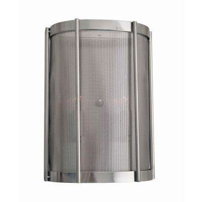 wall sconce lighting. Xena Collection 2-Light Brushed Nickel Indoor Wall Sconce Lighting E