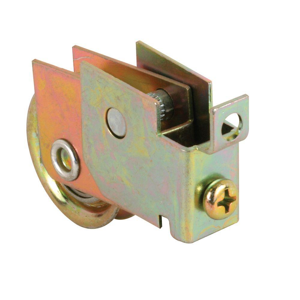 1-1/4 in. Steel Ball Bearing Sliding Door Roller Assembly with Flush