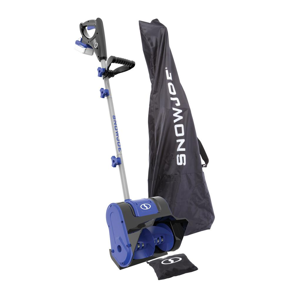 Snow Joe 10 in. 24-Volt Cordless Electric Snow Shovel Kit with 4.0 Ah Battery + Charger, Cover Included