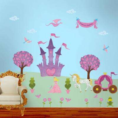 Princess Peel and Stick Removable Wall Decals Fairy Princess Theme (31-Piece Jumbo Set)