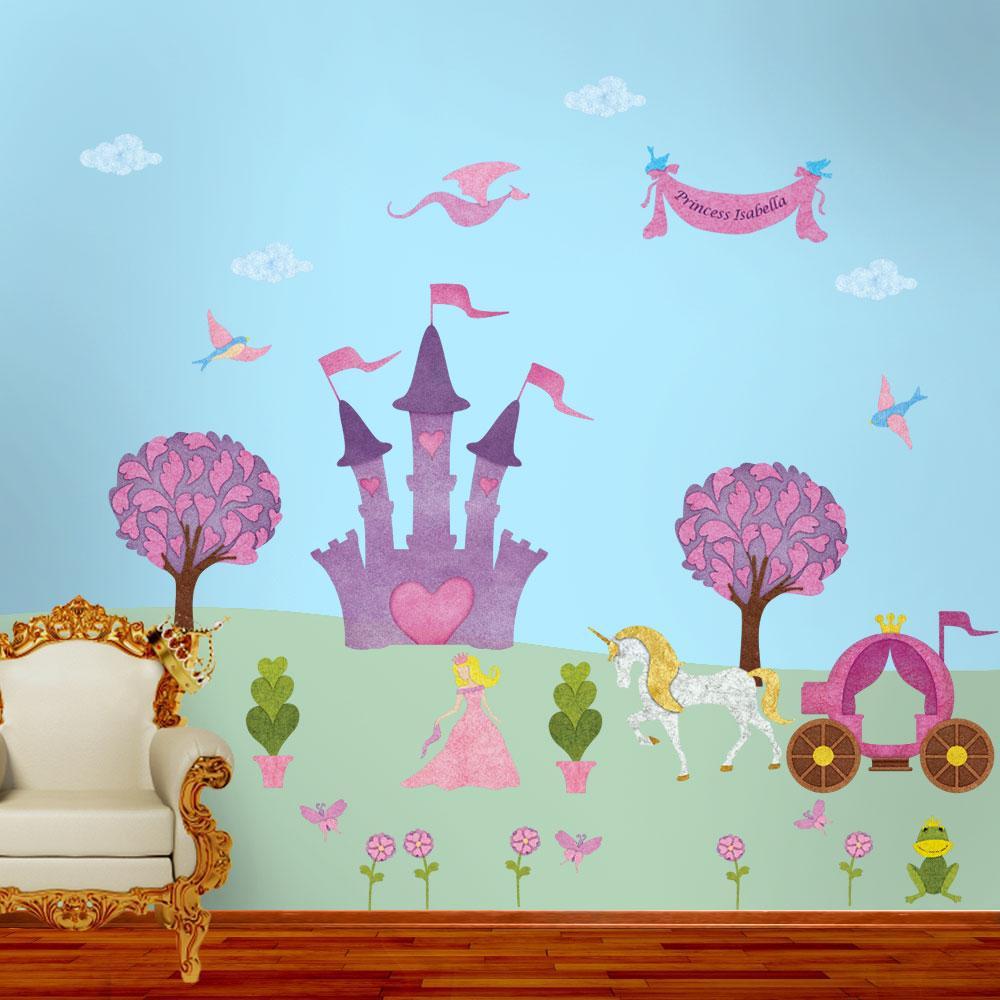 Princess Peel and Stick Removable Wall Decals Fairy Princess Theme (31-Piece Jumbo Set)
