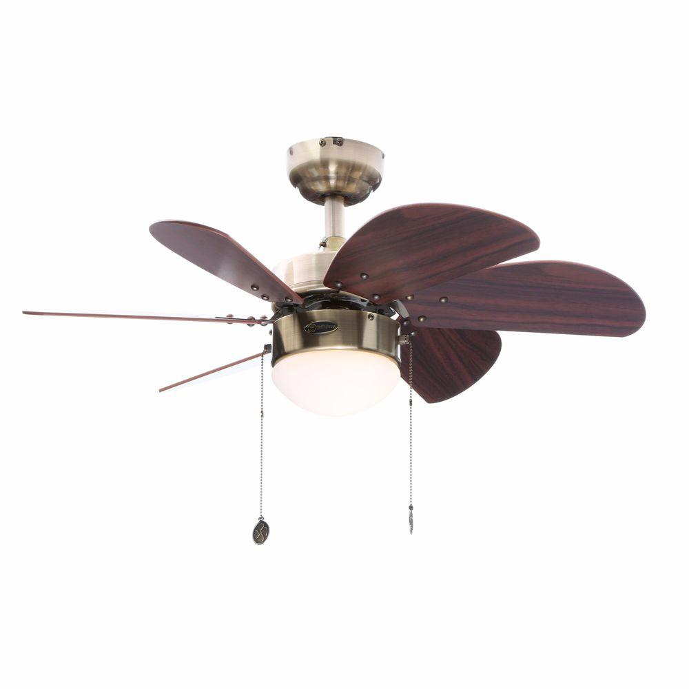Westinghouse turbo swirl 30 in indoor antique brass finish ceiling indoor antique brass finish ceiling fan aloadofball Gallery