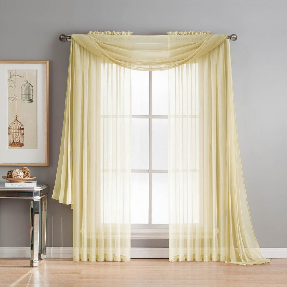 Window Elements Diamond Sheer Voile 56 In. W X 216 In. L