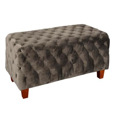 Henley Dark Brown Tufted Bench