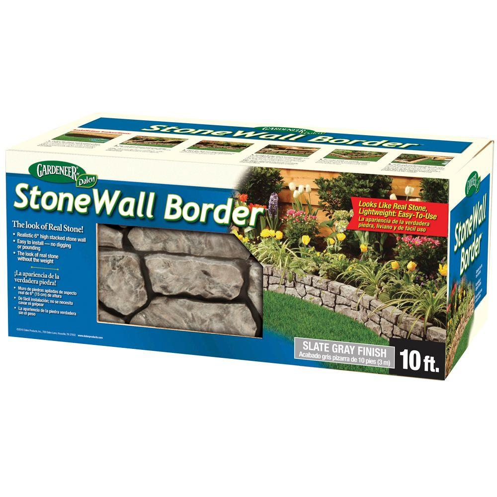 Dalen Products 6 In. X 10 Ft. StoneWall Border E4 10GY   The Home Depot
