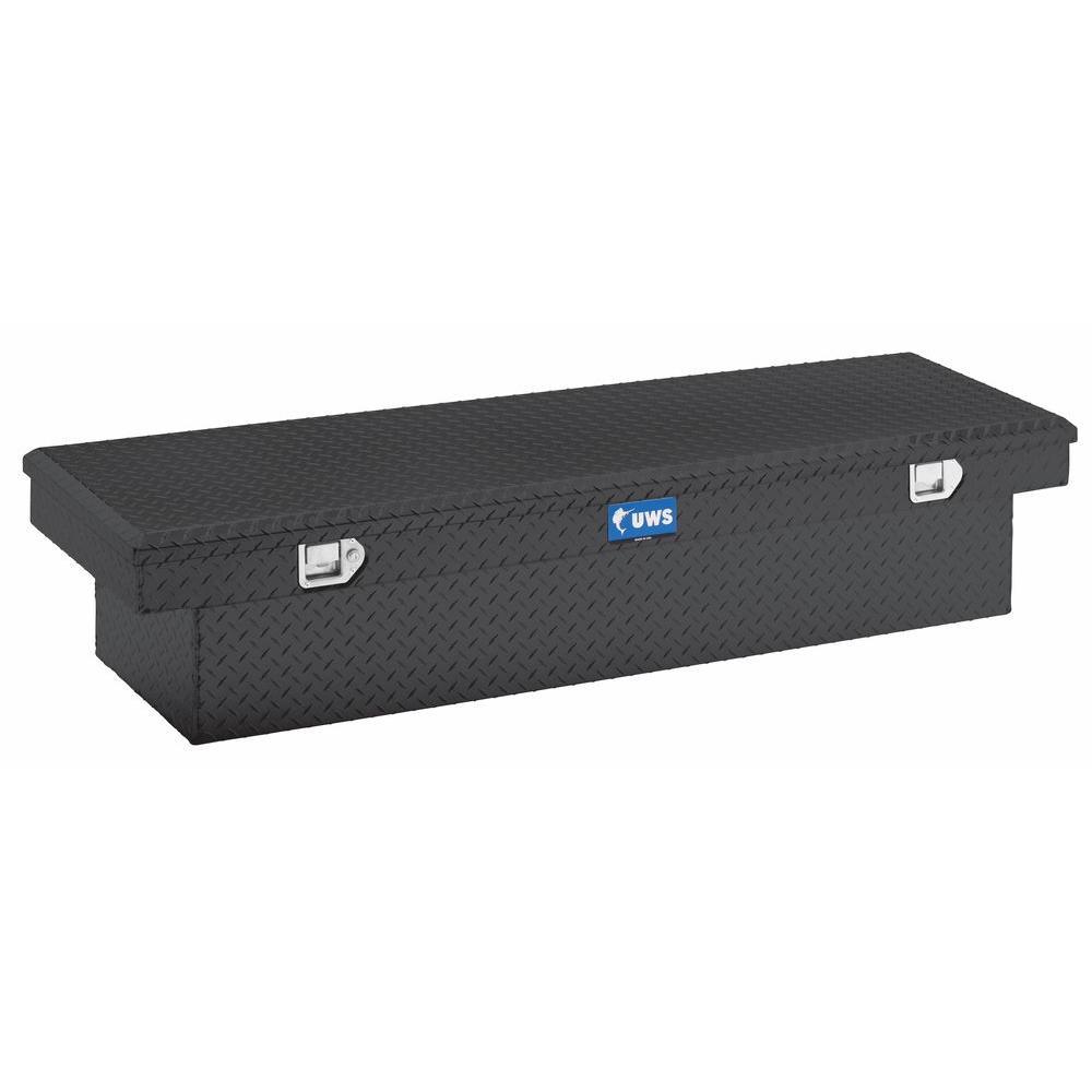 63 in. Aluminum Black Single Lid Crossover Tool Box