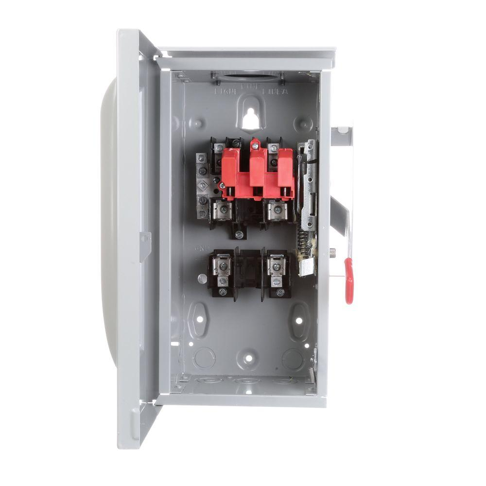 Siemens General Duty 60 Amp 240-Volt 3-Wire Double-Pole Outdoor Fusible Safety Switch