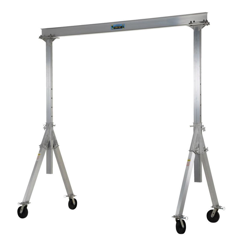 Vestil 2,000 lb. Capacity Adjustable Height Aluminum Gantry Crane by Vestil