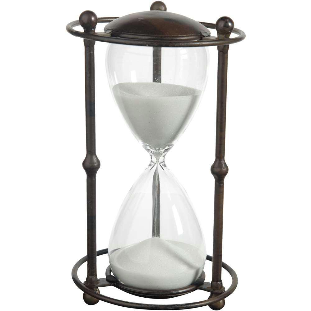 6 in. x 12.5 in. White Decorative Hour Glass