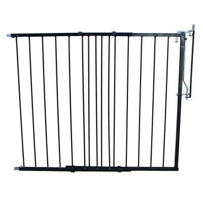 41.5 in. H x 29.5 in. W x 2 in. D Duragate Child Gate, Black