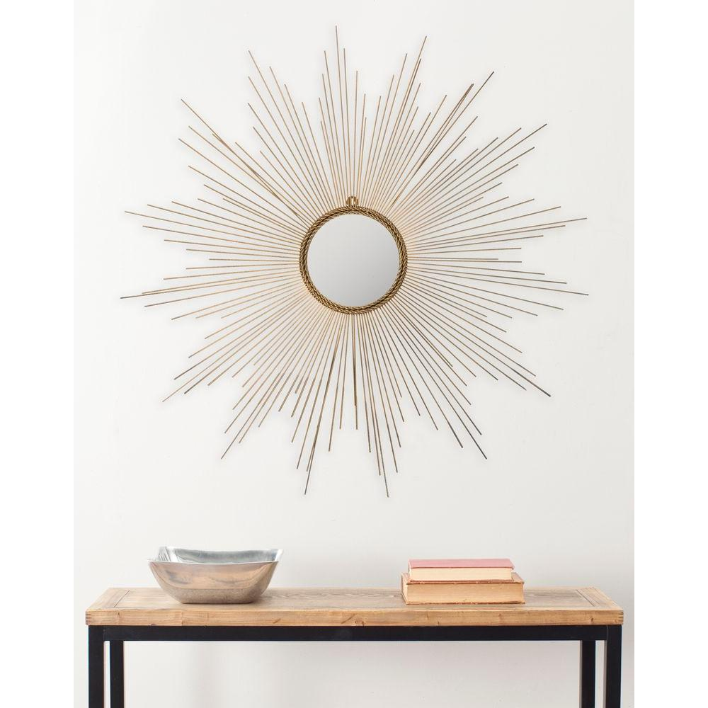 Safavieh 41 in. x 41 in. Iron Marinda Framed gold Mirror