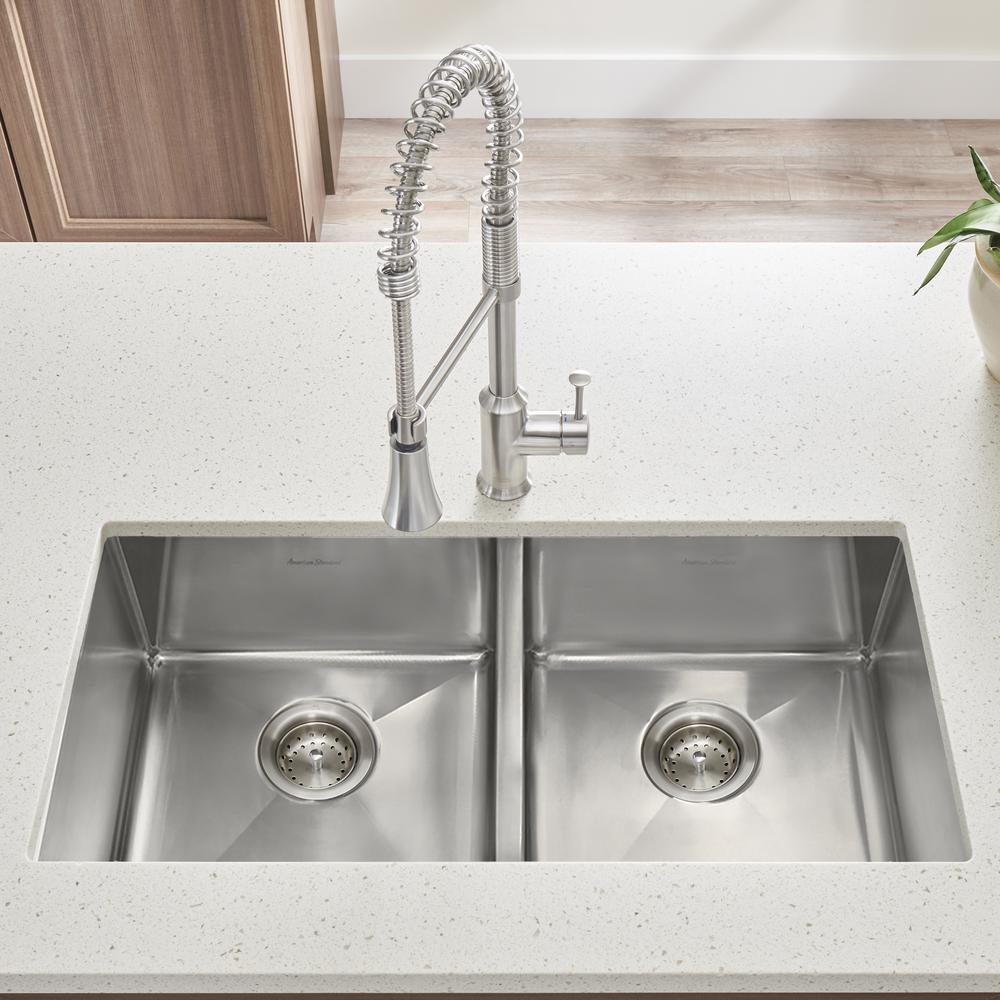 American Standard Pekoe Undermount Stainless Steel 29 in. ADA Double Bowl  Kitchen Sink