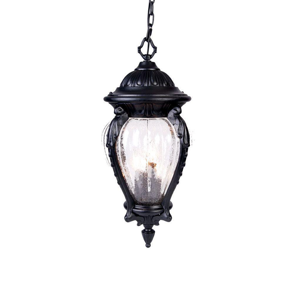Acclaim Lighting Nottingham Collection 4-Light Matte Black Outdoor Hanging Lantern