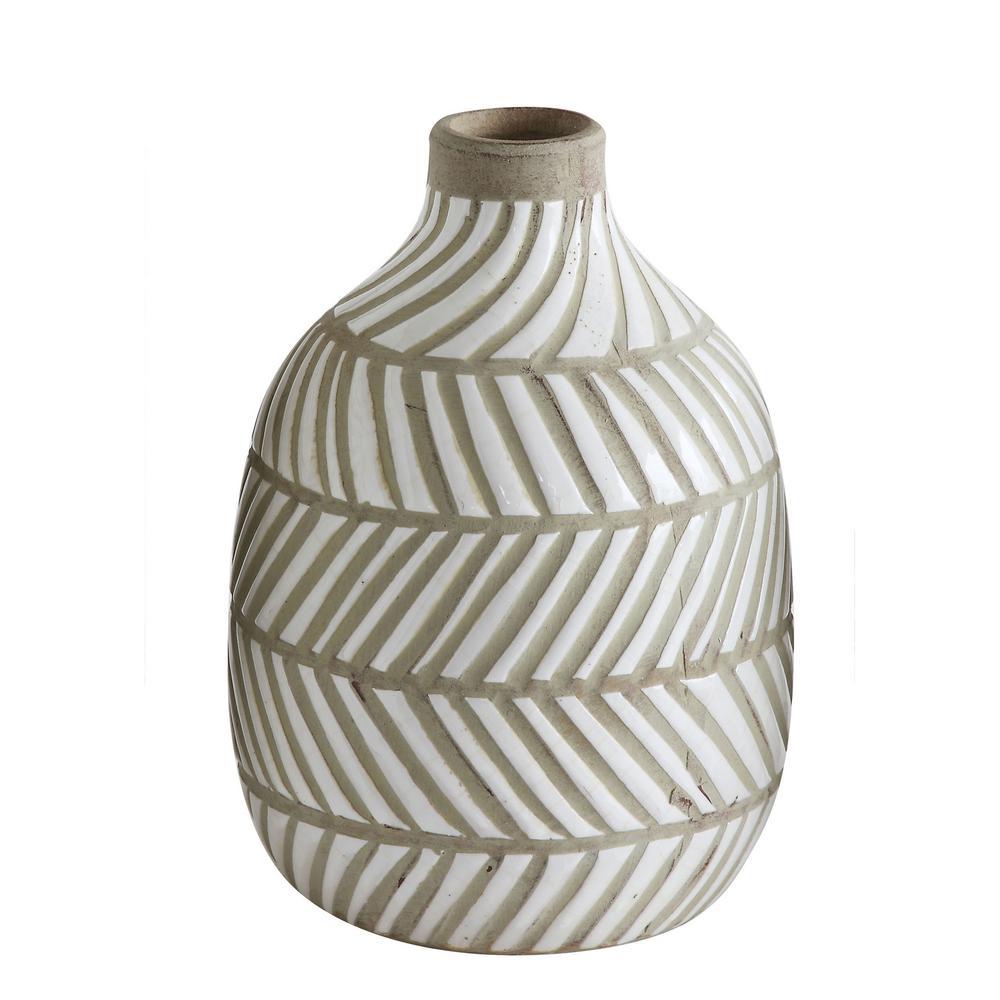 8-1/4 in. H Terracotta Vase