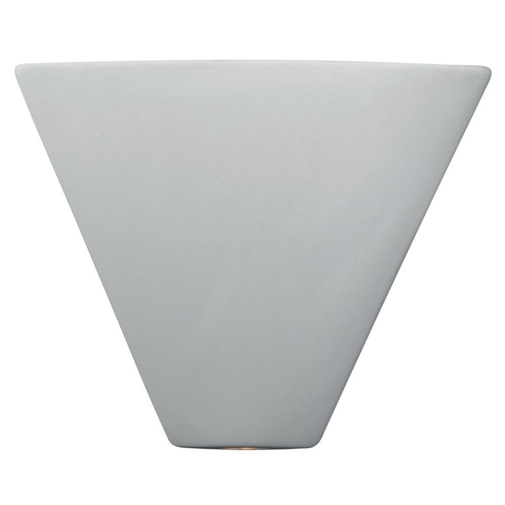 Filament Design Leonidas 1-Light Paintable Ceramic Bisque Trapezoid Corner Sconce