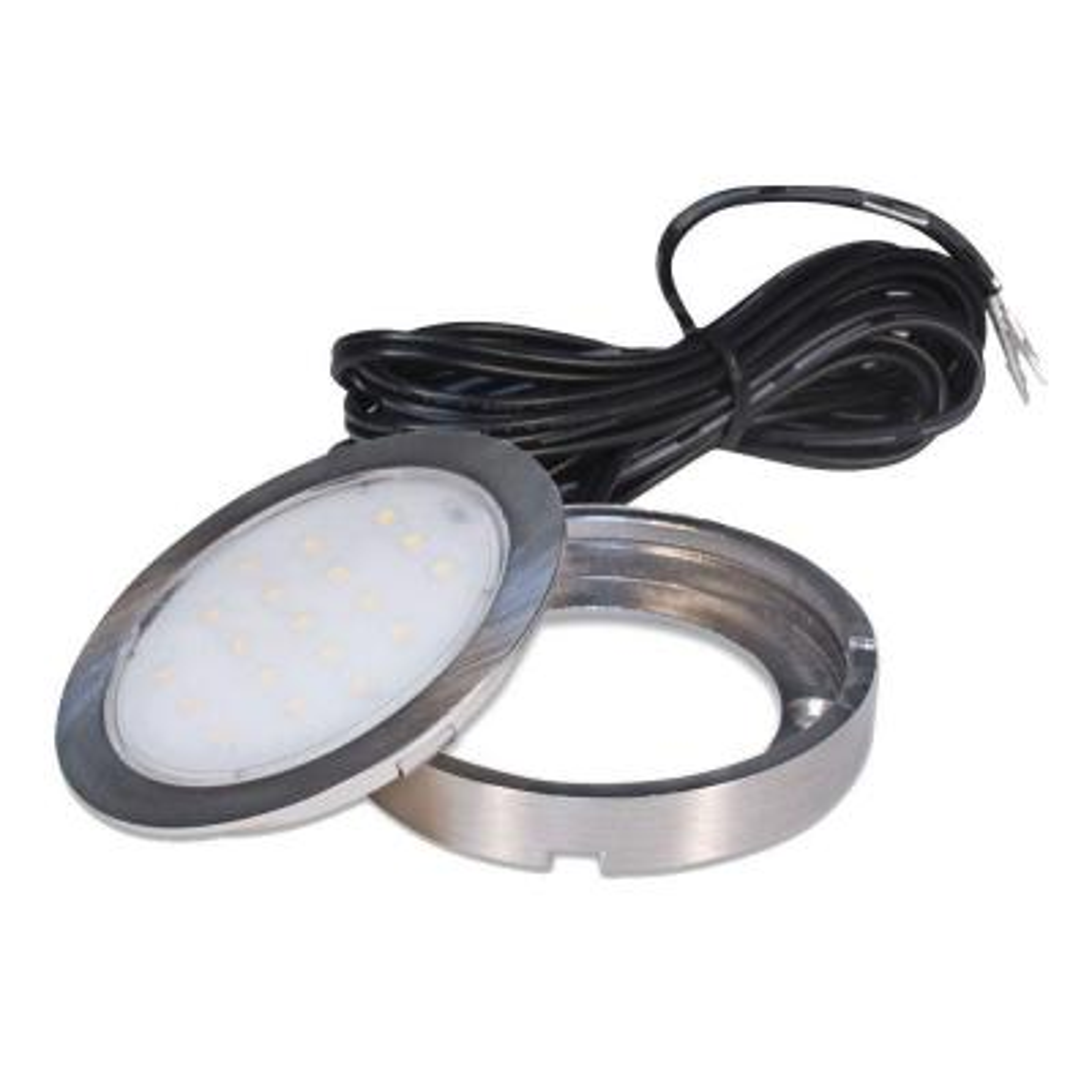 1.5 Watt Pockit Plus LED Puck Light 12 Volt DC in Matte Nickel
