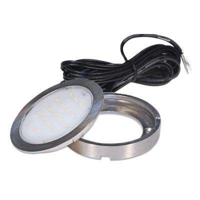 1.5 Watt Pockit Plus LED Puck Light 12 Volt DC in Matte Nickel