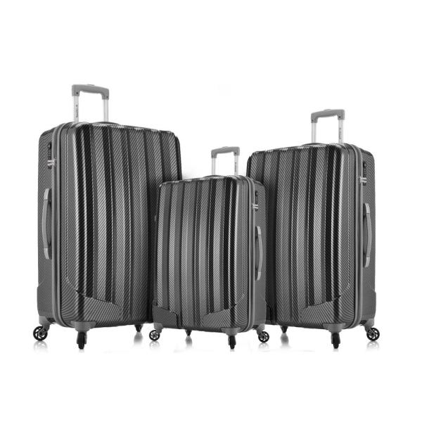 0721e4153 Rockland Barcelona 3 Hardside Luggage Set + 6-Piece Travel Accessories Set,  Black