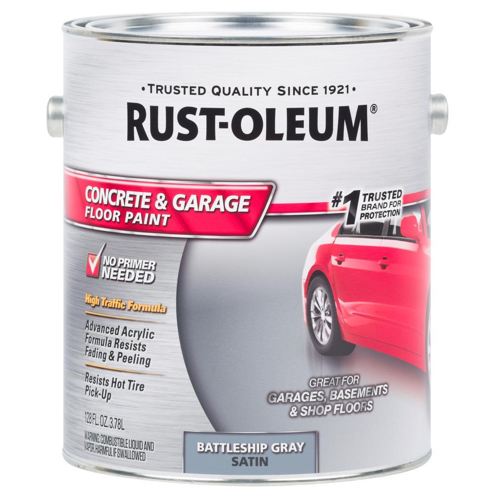 Rust-Oleum 1 Gal. Battleship Gray Satin Concrete Floor Paint (2 Pack)