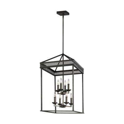 Woodruff 31 in. H 8-Light Antique Bronze Multi-Tier Chandelier