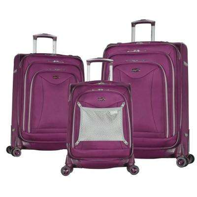 Luxe II Purple 3-Piece Expandable Spinner Set