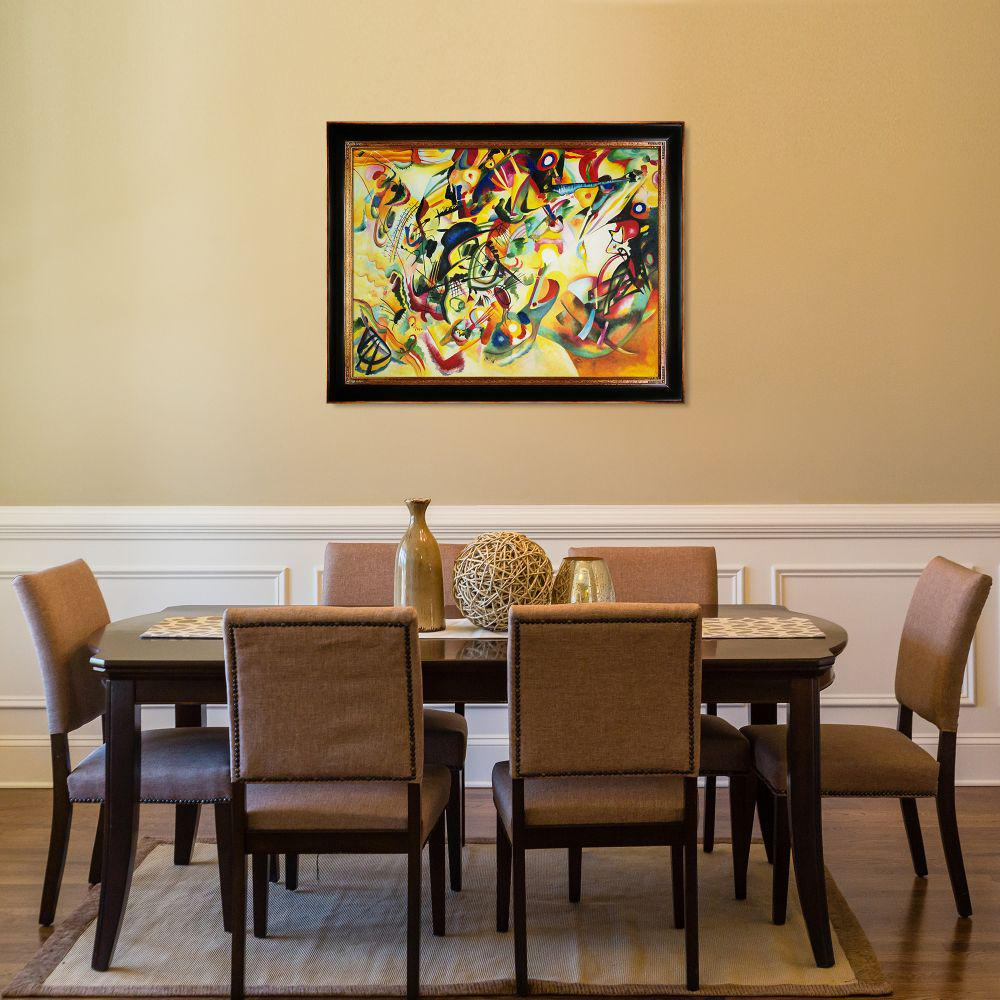 La Pastiche 49 in. x 39 in. Composition VII, 1913 with Opulent Frame by Wassily Kandinsky Framed Wall Art, Multi-Colored was $1372.0 now $667.06 (51.0% off)