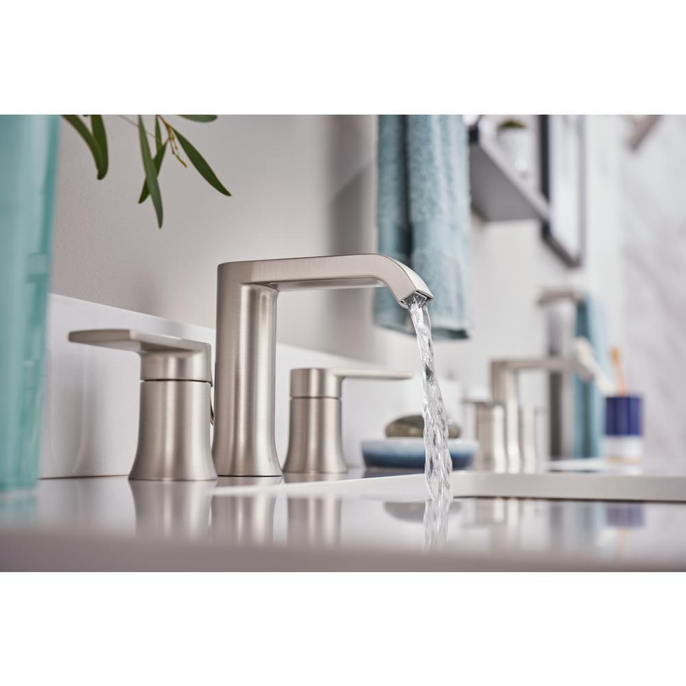 Genta 8 in. Widespread 2-Handle Bathroom Faucet in Spot Resist Brushed Nickel