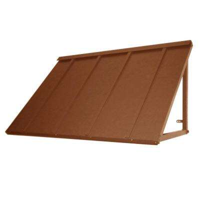 4.6 ft. Houstonian Metal Standing Seam Awning (56 in. W x 24 in. H x 36 in. D) in Terra Cotta