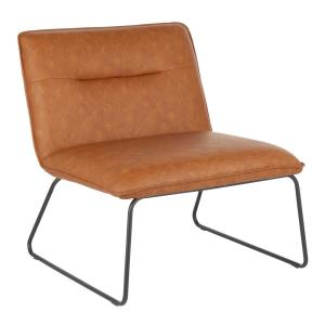 Tremendous Lumisource Casper Industrial Camel Faux Leather Accent Chair Pdpeps Interior Chair Design Pdpepsorg