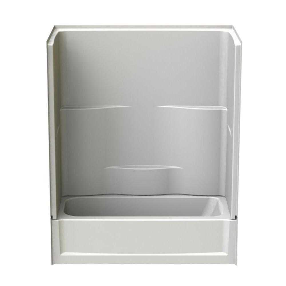 60 in. x 30 in. x 72 in. 2-piece Direct-to-Stud Tub