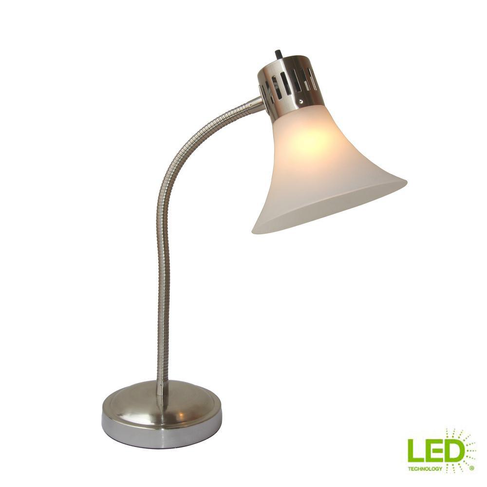 Title 20 20.75 In Height Desk Lamp Satin LED