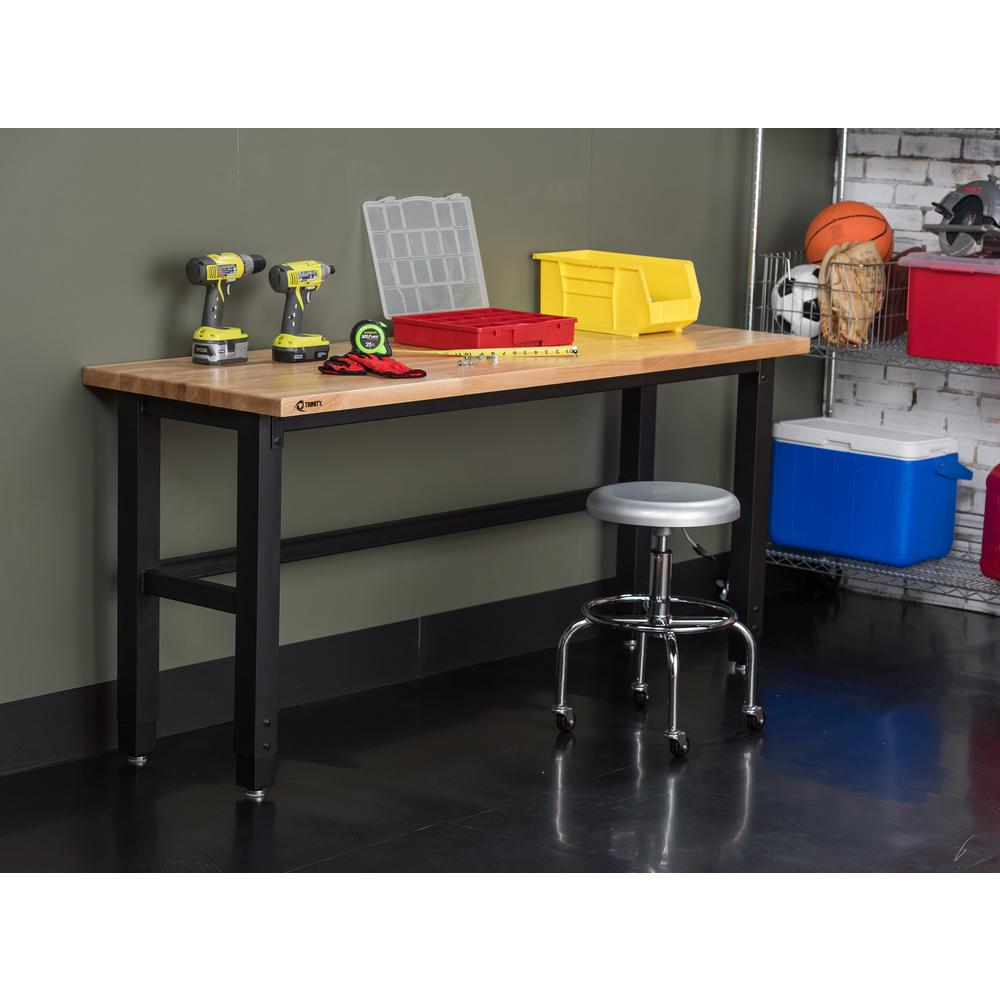 TRINITY 6 ft. W x 19 in. D Adjustable Height Workbench