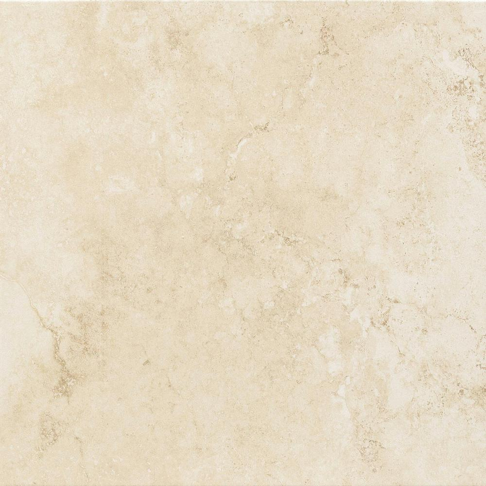 TrafficMASTER Atlantic Beige 18 in. x 18 in. Ceramic Floor and Wall ...
