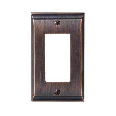 Candler 1-Rocker Wall Plate, Oil-Rubbed Bronze