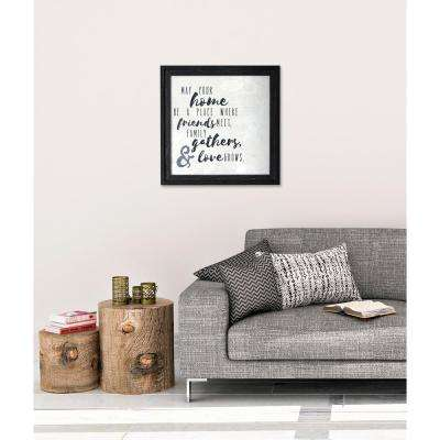 "23.25 In. W x 23.25 In. H ""May Your Home"" by SMD Framed Printed Wall Art"