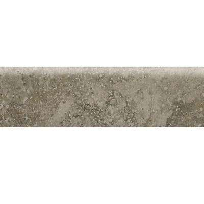 Heathland Sage 3 in. x 12 in. Glazed Ceramic Bullnose Floor and Wall Tile