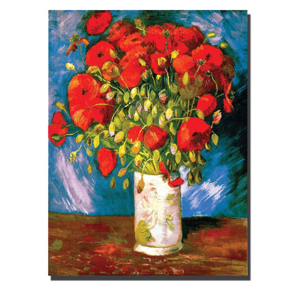 Trademark Fine Art 35 in. x 47 in. Poppies Canvas Art