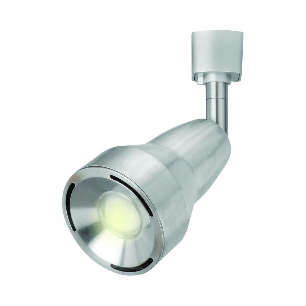 3.1 in. 9-Watt Satin Nickel LED Adjustable Track Lighting Head