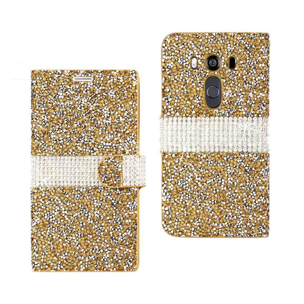 REIKO LG V10 Folio Case in Gold