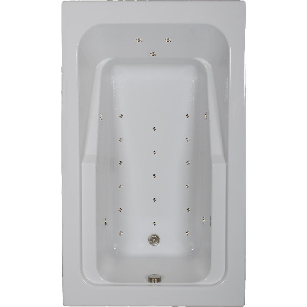 Comfortflo 66 in. Acrylic Rectangular Drop-in Air Bathtub in Biscuit